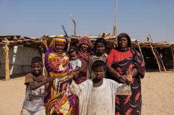 17 famiglia lungo la strada Merowe - Atbara